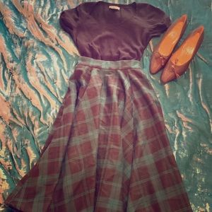Jenny Slither Check skirt by Collectif Modcloth